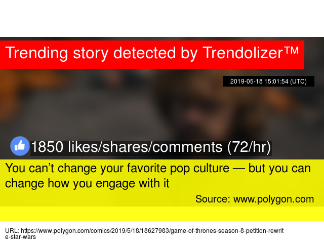 798166c3c You can't change your favorite pop culture — but you can change how you  engage with it - Stats