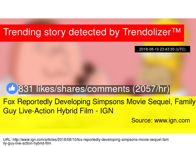 Fox Reportedly Developing Simpsons Movie Sequel, Family Guy