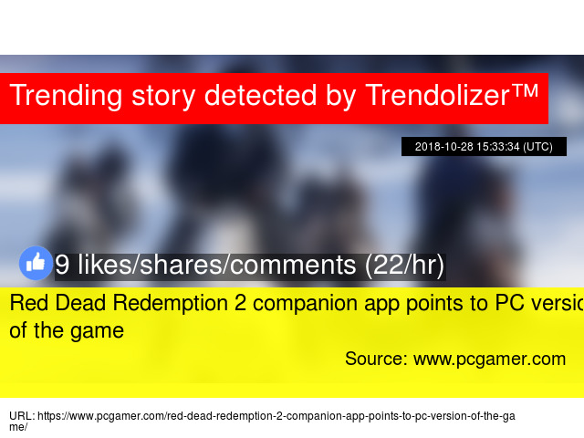 Red Dead Redemption 2 companion app points to PC version of
