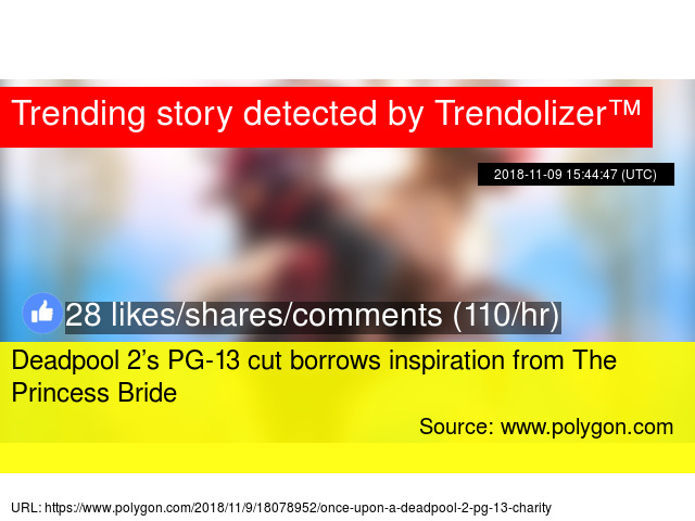 5f58ee408f37 Deadpool 2 s PG-13 cut borrows inspiration from The Princess Bride