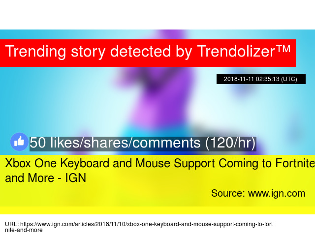 Xbox One Keyboard and Mouse Support Coming to Fortnite and