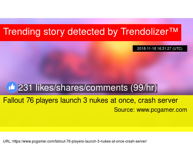 Fallout 76 players launch 3 nukes at once, crash server