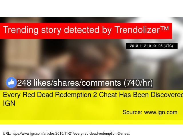 Every Red Dead Redemption 2 Cheat Has Been Discovered - IGN