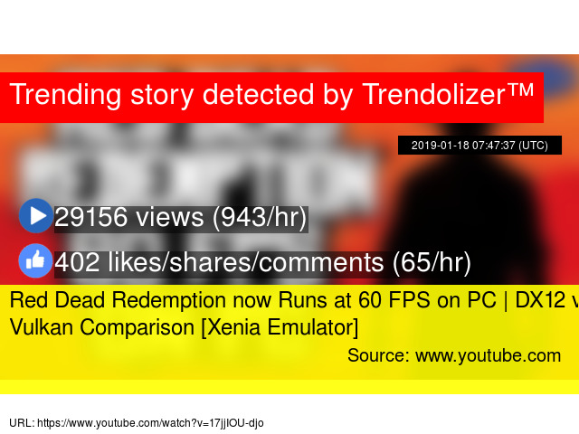 Red Dead Redemption now Runs at 60 FPS on PC | DX12 vs Vulkan