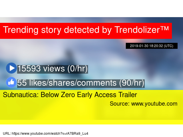 Subnautica Below Zero Early Access Trailer Stats