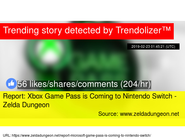 Report: Xbox Game Pass is Coming to Nintendo Switch - Zelda