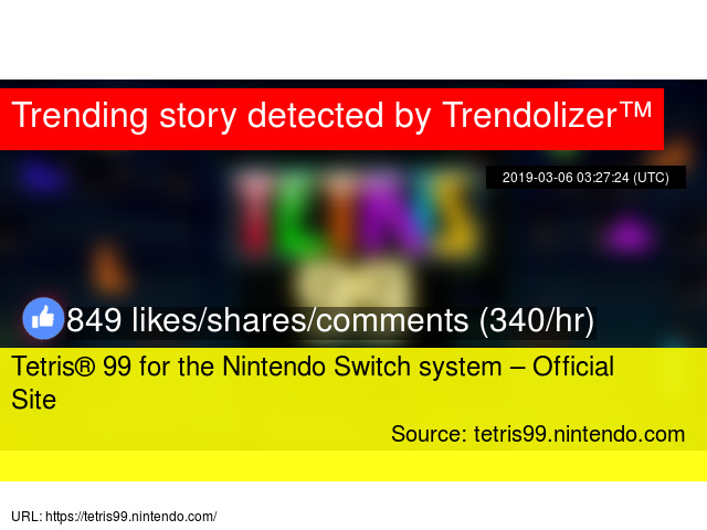 Tetris® 99 for the Nintendo Switch system – Official Site