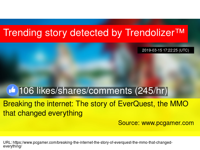 Breaking the internet: The story of EverQuest, the MMO that