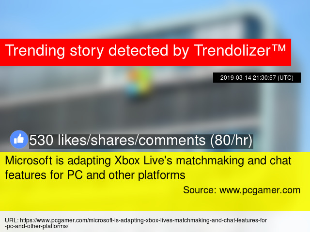 Microsoft is adapting Xbox Live's matchmaking and chat