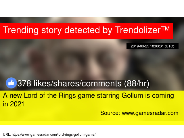 ac0082440c992 A new Lord of the Rings game starring Gollum is coming in 2021
