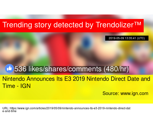 Nintendo Announces Its E3 2019 Nintendo Direct Date and Time - IGN