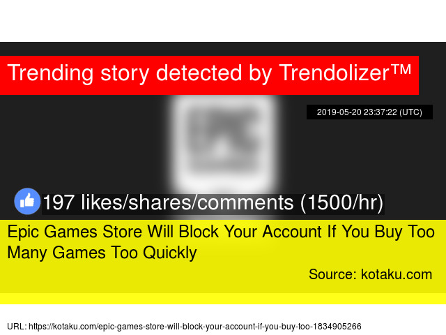 Epic Games Store Will Block Your Account If You Buy Too Many