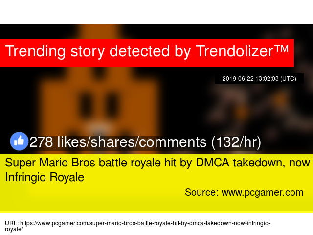 Super Mario Bros battle royale hit by DMCA takedown, now Infringio