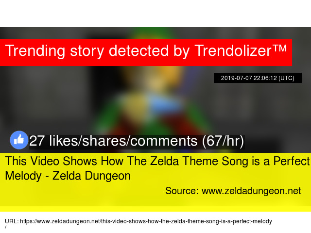 This Video Shows How The Zelda Theme Song is a Perfect