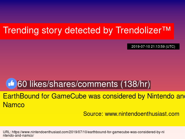 EarthBound for GameCube was considered by Nintendo and Namco