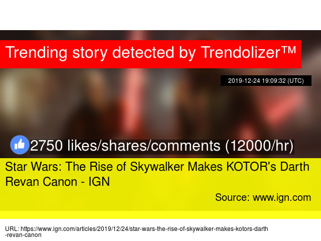 Star Wars The Rise Of Skywalker Makes Kotor X27 S Darth Revan Canon Ign