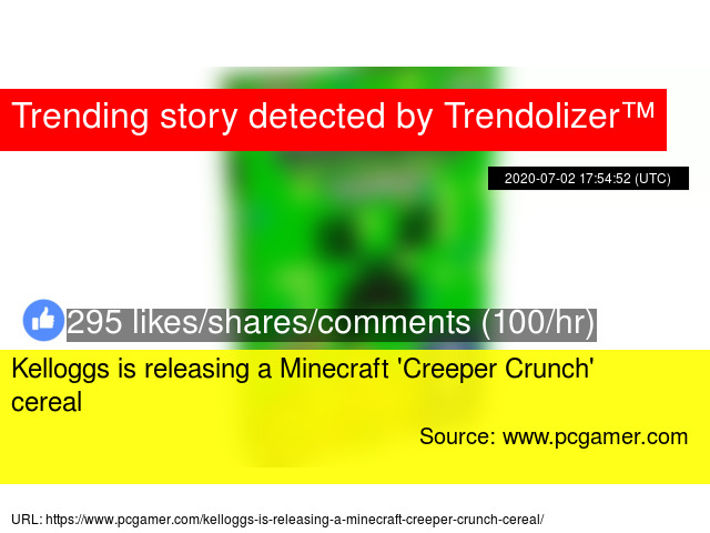Kelloggs Is Releasing A Minecraft Creeper Crunch Cereal
