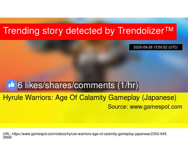 Hyrule Warriors Age Of Calamity Gameplay Japanese