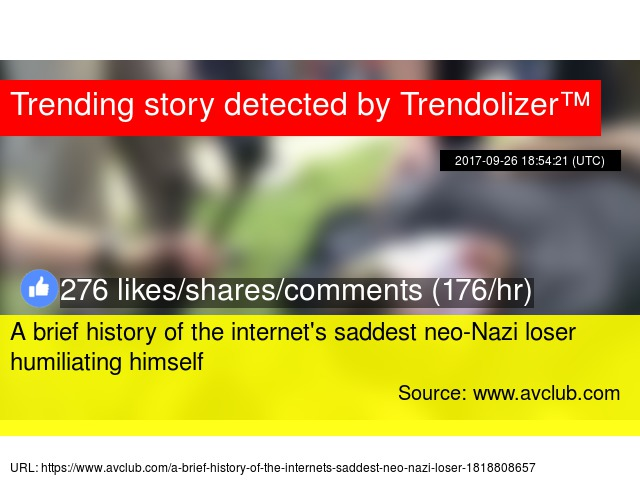 A Brief History Of The Internets Saddest NeoNazi Loser - The 18 saddest photos on the internet