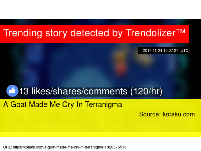 A Goat Made Me Cry In Terranigma