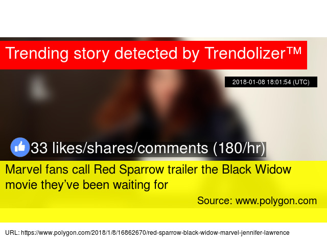 Marvel fans call Red Sparrow trailer the Black Widow movie