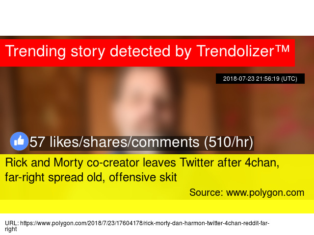 Rick and Morty co-creator leaves Twitter after 4chan, far-right