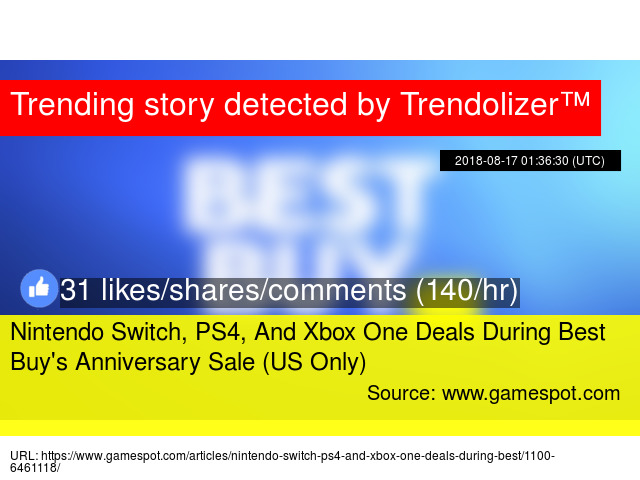 Nintendo Switch, PS4, And Xbox One Deals During Best Buy&