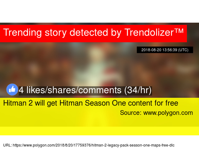 Hitman 2 will get Hitman Season One content for free