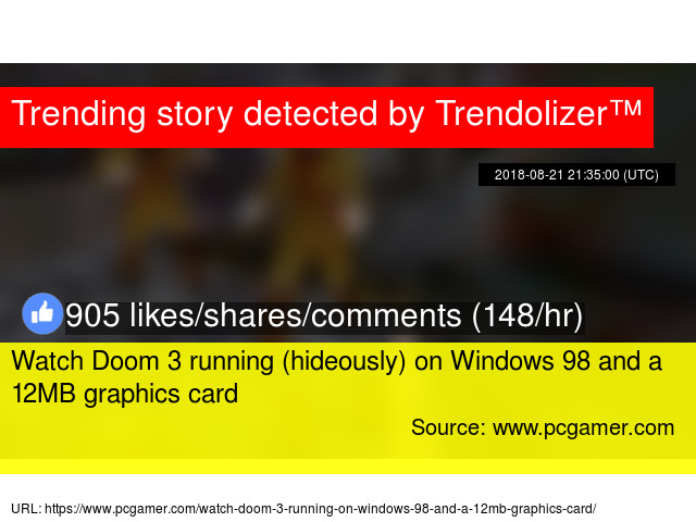 Watch Doom 3 running (hideously) on Windows 98 and a 12MB
