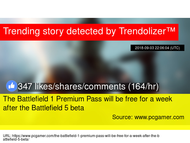The Battlefield 1 Premium Pass will be free for a week after