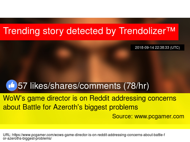 wow s game director is on reddit addressing concerns about battle