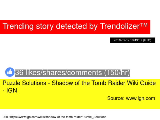Puzzle Solutions - Shadow of the Tomb Raider Wiki Guide - IGN