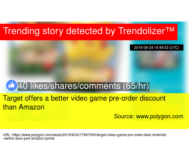 Target offers a better video game pre-order discount than Amazon
