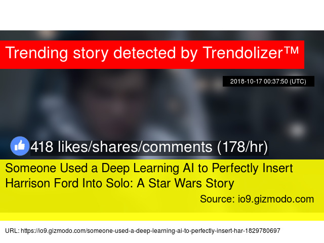 Someone Used a Deep Learning AI to Perfectly Insert Harrison